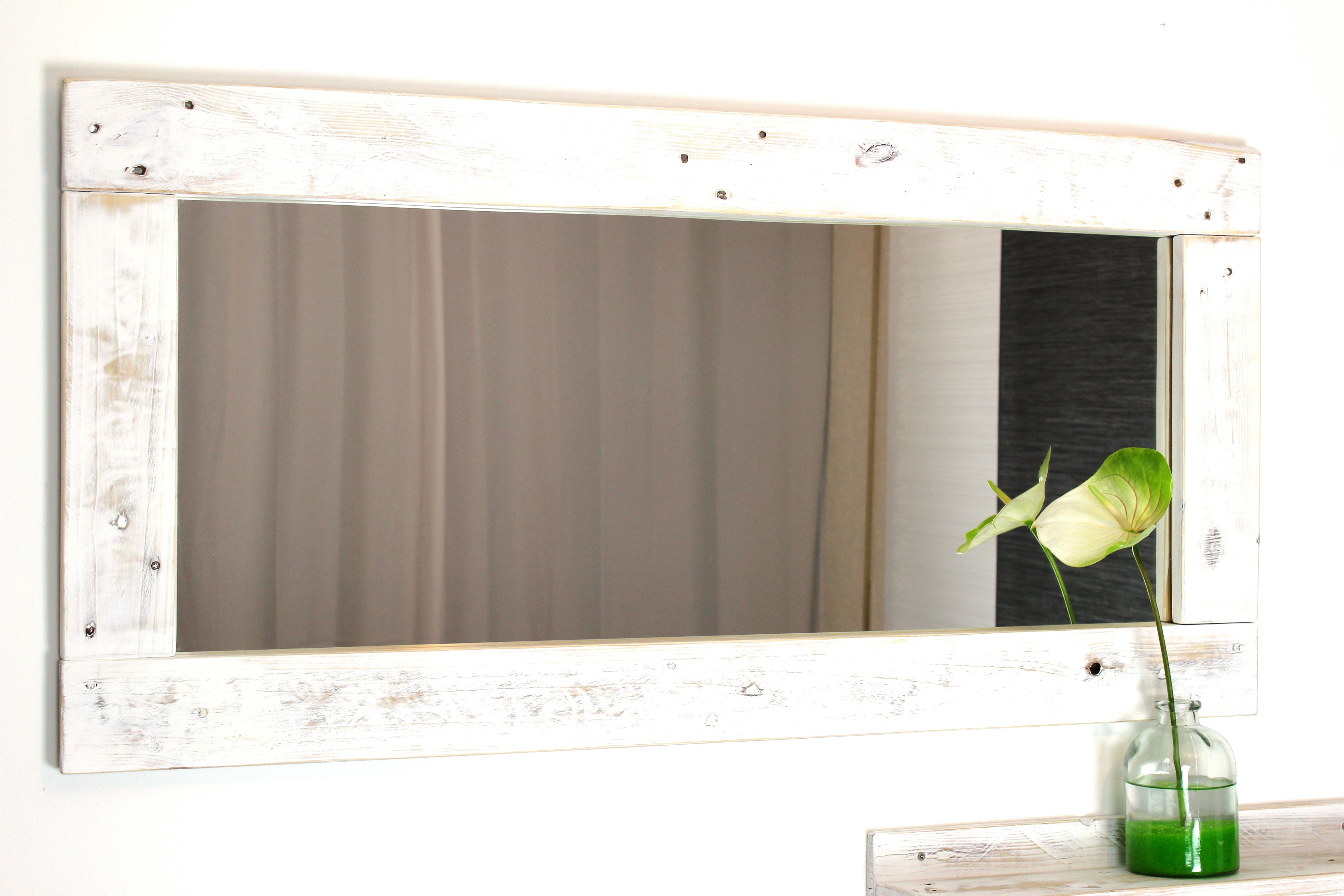 Wandspiegel aus Paltten 120x60 der Newline-Serie mit Shabby Chic ...